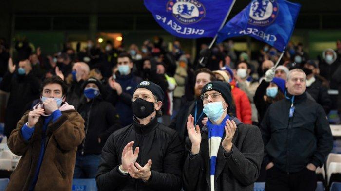 Suporter the Blues di Premier League Chelsea vs Leeds United di Stamford Bridge
