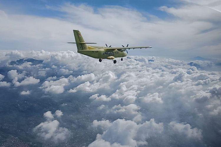 Prototipe pesawat kedua, N219, menjalani uji terbang pertama kali pada Jumat (21/12/2018).
