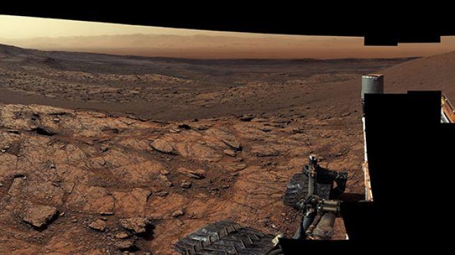 Foto ekstensif Curiosity di Mars. [NASA]