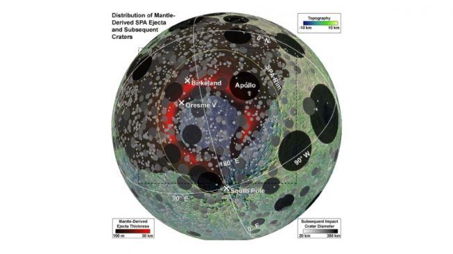 Kawah terbesar di bulan. [JGR Planets]