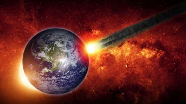Interpretasi asteroid yang akan menghantam Bumi.  (Shutterstock)