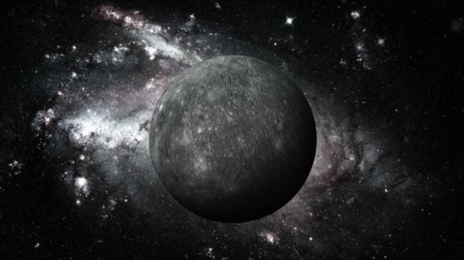 Deskripsi Merkurius, planet terkecil dan terdekat dengan Matahari di tata surya kita. [Shutterstock]