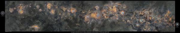 Sulit dipercaya, butuh 12 tahun untuk melukis galaksi Bima Sakti ini