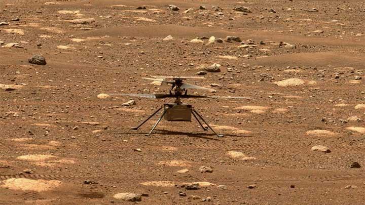 Akan ada 4 tes lagi dari helikopter cerdik di Mars, terbang dengan sukses