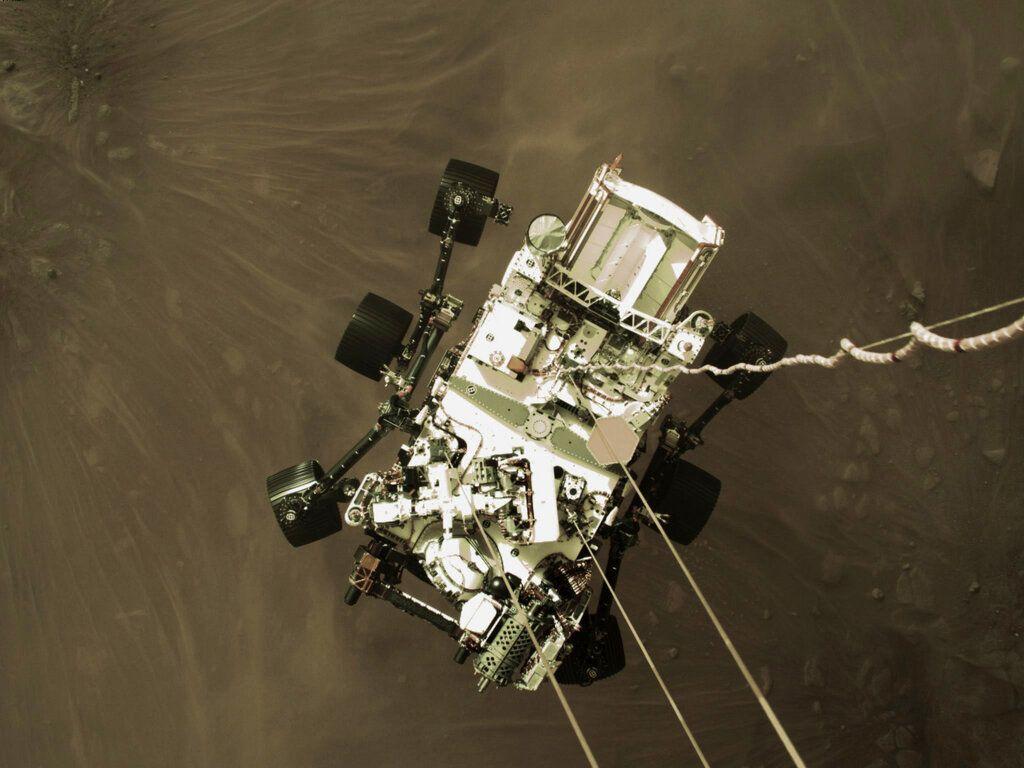 Foto rajin mendarat di Mars