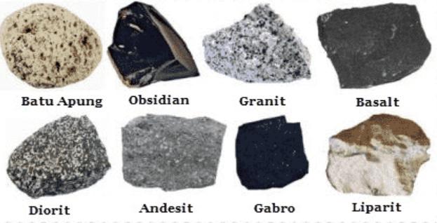Karakteristik dan klasifikasi batuan |  Kuning itu spekulatif
