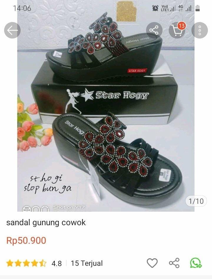Pembuat sepatu melakukan sulfok.  (Twitter / xt txtdarionlshop)