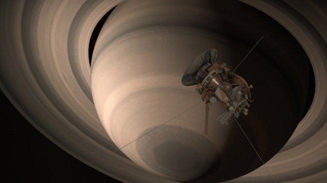 Cassini Huygens, satelit acak yang dikirim NASA ke Saturnus [Shutterstock].